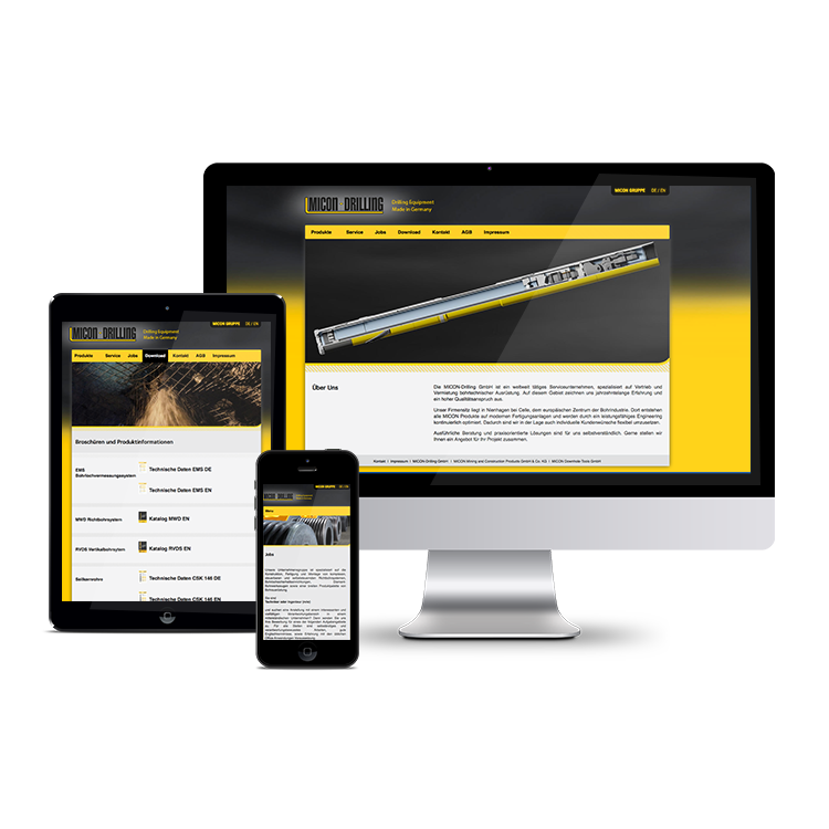 MICON-Drilling GmbH // Konzeption, Design und Programmierung der Website